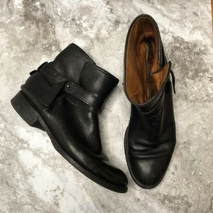 Madewell Rocker Ankle Boots Size 8 Black Leather